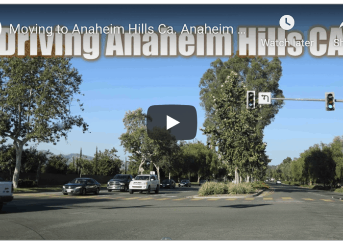 Driving Anaheim HIlls CA