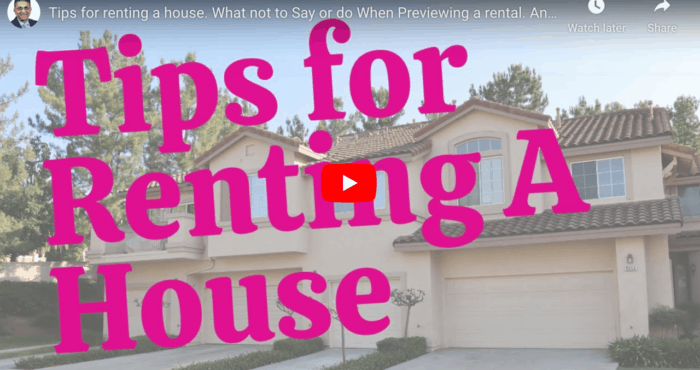tips for renting