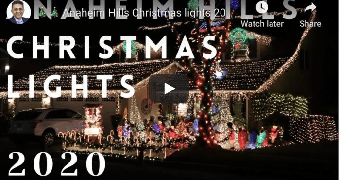 Christmas lights neighborhood 2020